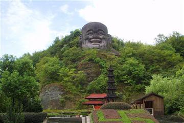 游新昌大佛寺,观梅渚古村喷泉一日游