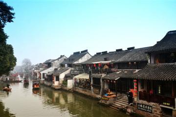 杭州湾湿地公园、鸣鹤古镇一日游